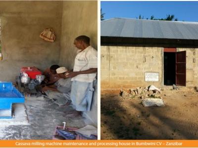 Bubwini Commercial Village sets up a cassava processing plant in Zanzibar